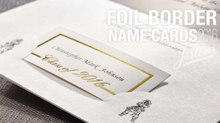 15 Foil Border Name Cards