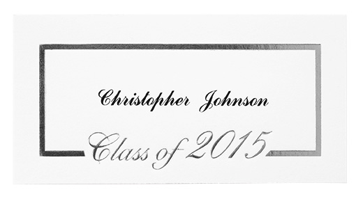 sy15 foil border name card silver